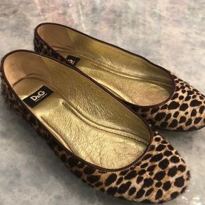 Dolce Gabbana D&G Pony Leather cheetah shoes
